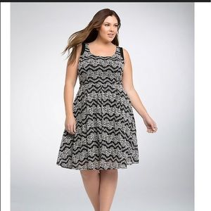Torrid | LACE SKATER CONTRAST DRESS | 18